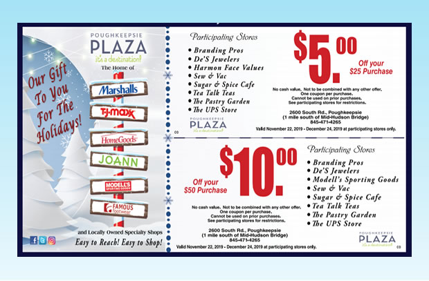 2019 Holiday Savings Coupon - Poughkeepsie Plaza
