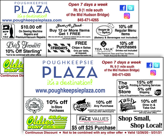 2020 - 2021 Discount Savings Card - Poughkeepsie Plaza